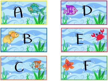 Book Bin Labels and Cards Sea - Ocean Theme