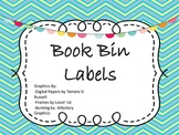 Book Bin Labels by Genre, Author, and Series