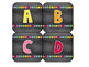 Book Bin Labels by Level | Word Wall Cards | Chalkboard & Brights Theme