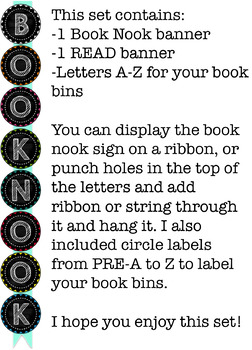 Book Bin Labels {chalkboard}