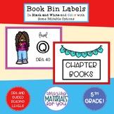 Book Bin Labels for 5th Grade