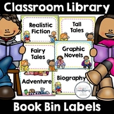 Book Bin Labels for Classroom Library   Editable