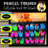 Back to School Book Bin Labels for Classroom Library Editable