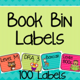 Book Bin Labels for Classroom Library Tubs