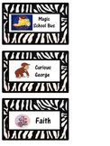 Book Bin Labels for Classroom Library Zebra
