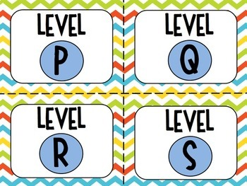 Classroom Library Labels for Grades 3-5 Chevron