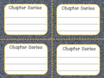 Classroom Library Labels for Grades 3-5 -- Denim