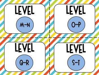 Classroom Library Labels for Grades 3-5 -- Diagonal Stripes