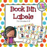 Classroom Library Labels for Grades 3-5 -- Polka Dots
