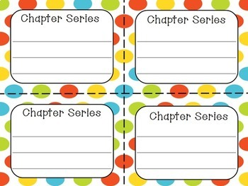 Classroom Library Labels for Grades 3-5 -- Polka Dots