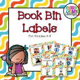 Classroom Library Labels for Grades 3-5 -- Squiggles