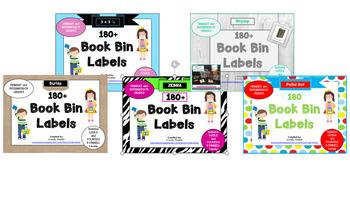 100+ Classroom Library Book Bin Labels for Intermediate Grades