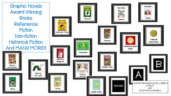 100+ Classroom Library Book Bin Labels for Primary and Intermediate  - EDITABLE