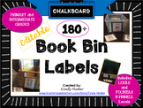 100+ Classroom Library Book Bin Labels for Primary and Int