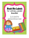 Book Bin Labels for Primary Grades (with pictures!)- Green Dots