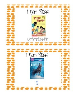 Book Bin Labels for Primary Grades (with pictures!)- Orange Dots