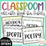 Book Bin Labels for Your Classroom Library