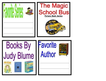 Book Bin Labels for your Fiction Library!