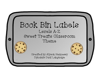 Book Bin Labels for your SWEET classroom