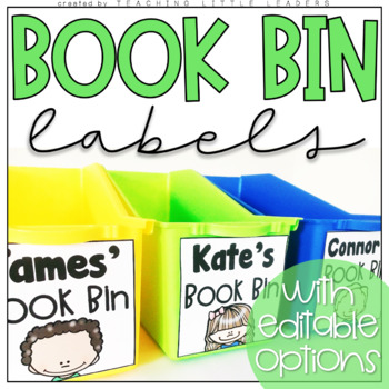 Book Bin Labels with Editable Options