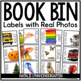 Book Bin Labels with Real Photgraphs