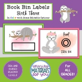 Book Bin Labels with a Sloth Theme