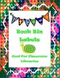 Bright Beautiful Book Bin Labels