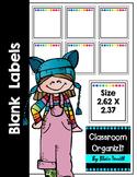 Book-Bin Lables {Blank} *Print Friendly