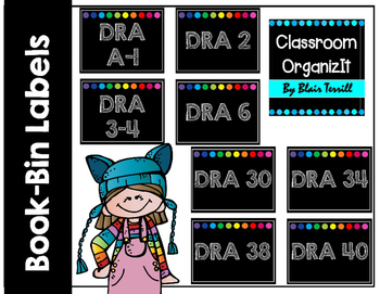 Book-Bin Lables {DRA} Freebie!! A-70+