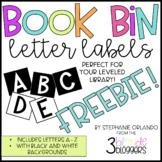 Book Bin Letter Labels