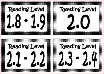 Book Bin Leveled Labels