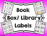 Book Box- Library Labels {Grey Scribble}