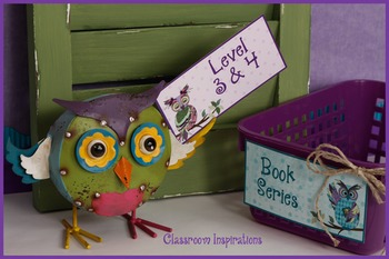 Book Bin Multipurpose Editable Labels - Coordinates with Book Smart Owls Theme