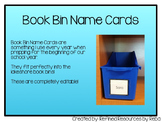 Book Bin Name Labels