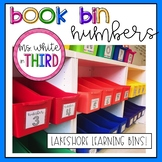 Book Bin Numbers (Lakeshore Learning Bins)