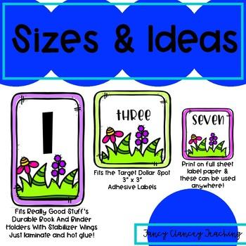 Book Bin Numbers for Student Bins (Garden Theme)