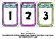 Book Bin Numbers for Student Bins (Bunting Theme)