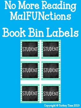 Book Bin (Square-size) Chevron Student Labels Editable