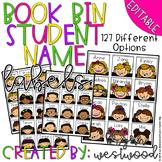 Book Bin Student Name Labels EDITABLE
