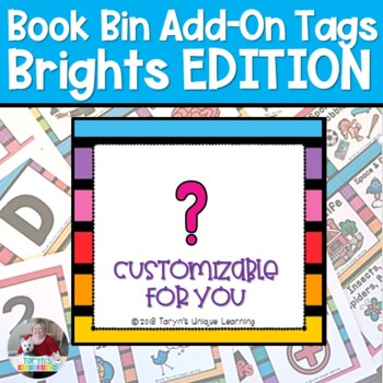 Book Bin Tag Add On Pack (Brights Edition)