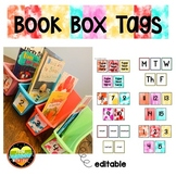 Book Bin and Book Boxes Labels