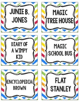 Book Bin and Classroom Labels {Primary Chevron}