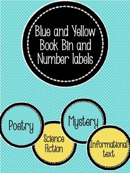 EDITABLE Book Bin and Number Labels