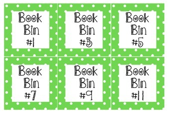 """""""Book Bin"""" labels- for literacy/reading boxes. MANY COLORS"""