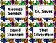 Book Bin/Shelf Organizer Cards by Author for Grades K-2 (star)