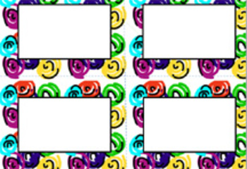 Book Bin/Shelf Organizer Cards by Author for Grades K-2 (swirl)