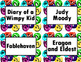 Book Bin/Shelf Organizer Cards by Series for Grades 3-5 (swirl)