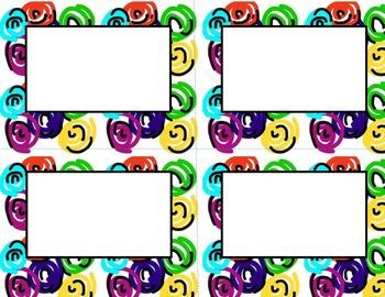 Book Bin/Shelf Organizer Cards by Series for Grades K-2 (swirl)