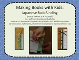 Making Books with Kids: Japanese Stab Binding (not as sinister as it sounds!)