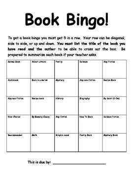 Book Bingo!